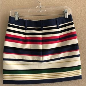 J Crew striped skirt
